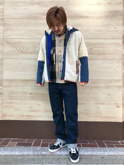 日暮里駅前店のKeisukeさんのEDWINのインターナショナルベーシック 404 ゆったりストレートを使ったコーディネート