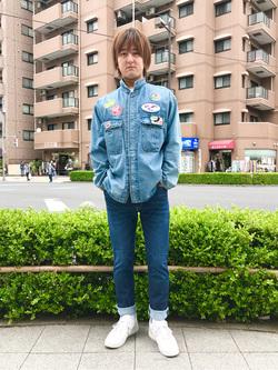 日暮里駅前店のKeisukeさんのEDWINのジャージーズ COOL レギュラーストレートパンツ(MOTION DENIM)を使ったコーディネート