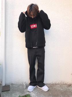 日暮里駅前店のKeisukeさんのEDWINの【おうち時間応援セール】F.L.E ボアフリースジャケットを使ったコーディネート