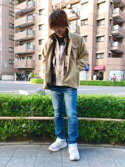 日暮里駅前店のKeisukeさんのEDWINの【期間限定10%OFFクーポン対象】フィールドジャケット(US ARMY M-65タイプ)を使ったコーディネート