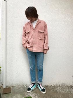 日暮里駅前店のKeisukeさんのEDWINの503 スリムテーパードを使ったコーディネート