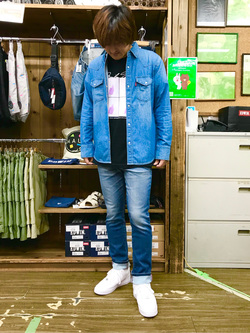 日暮里駅前店のKeisukeさんのEDWINのジャージーズ スリムテーパードを使ったコーディネート