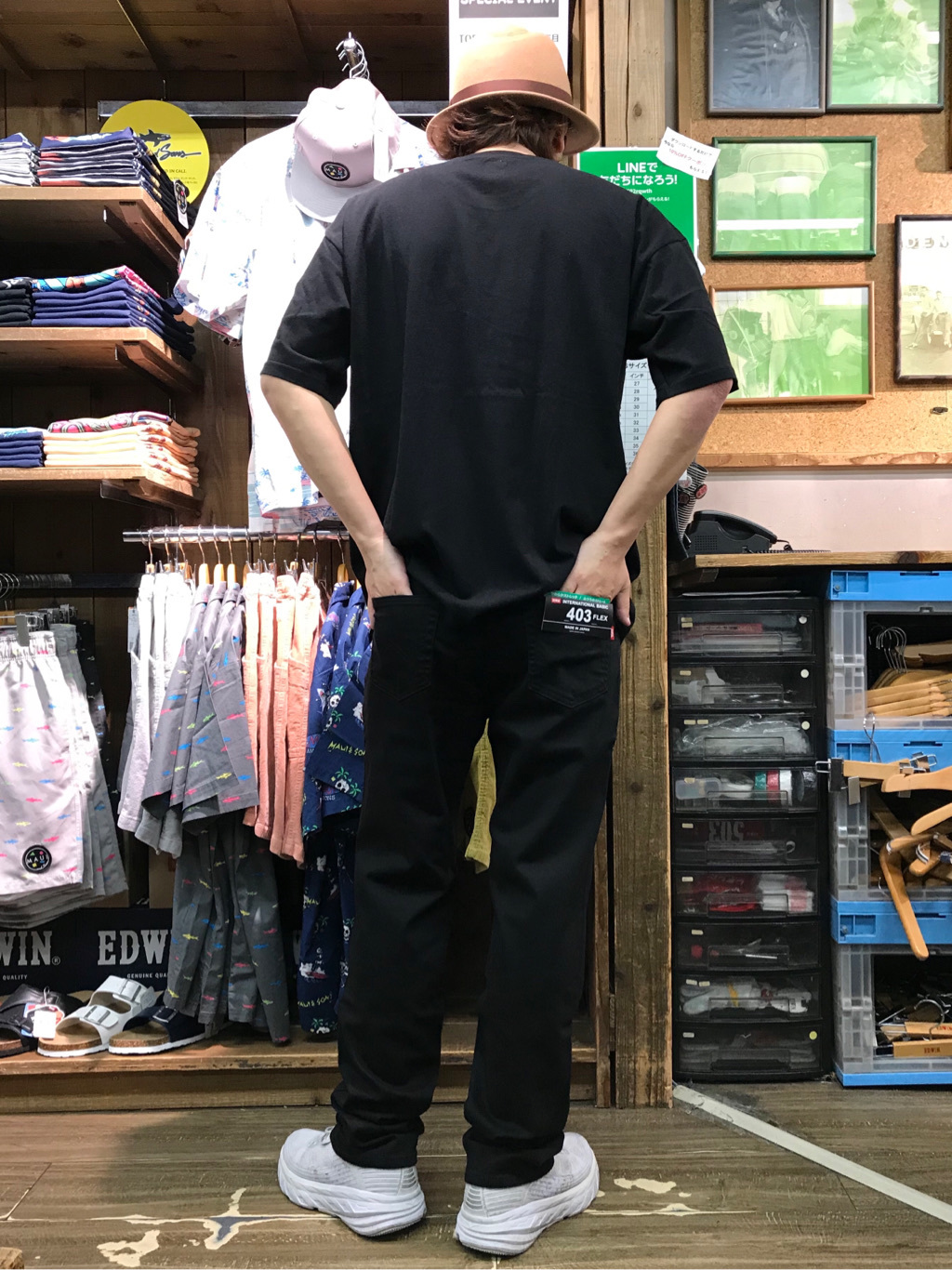 日暮里駅前店のKeisukeさんのEDWINのインターナショナルベーシック 403 フレックス ふつうのストレートを使ったコーディネート