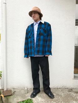 日暮里駅前店のKeisukeさんのEDWINの【おうち時間応援セール】バッファローチェック ボアジャケットを使ったコーディネート
