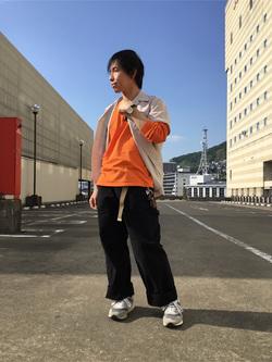 アミュプラザ長崎店のTAKAさんのLeeの終了【シークレットセーール!!】オープンカラーシャツ 半袖(POPLIN WASHER)を使ったコーディネート