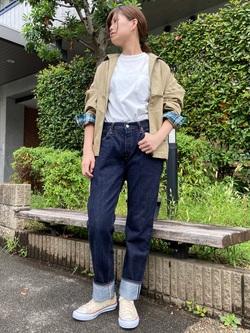 TOKYO HARAJUKU店のFemale StaffさんのEDWINの【コンセプトショップ限定】ZIP UP JKTを使ったコーディネート