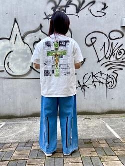 TOKYO HARAJUKU店のFemale StaffさんのEDWINの【EDWIN x KIDILL x WINSTON SMITH】KWE Print T-shirts IIを使ったコーディネート