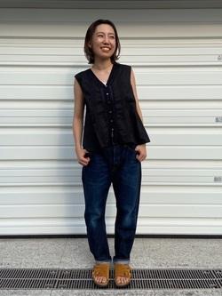 TOKYO HARAJUKU店のFemale StaffさんのEDWINの【コンセプトショップ限定】SLIM TAPERED 【レングス71cm】を使ったコーディネート