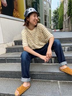 TOKYO HARAJUKU店のFemale StaffさんのEDWINの【コンセプトショップ限定】REGULER TAPERED 【レングス71cm】を使ったコーディネート