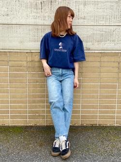 TOKYO HARAJUKU店のFemale StaffさんのEDWINの【コンセプトショップ限定】EDWIN EUROPE INNER SELF TEEを使ったコーディネート