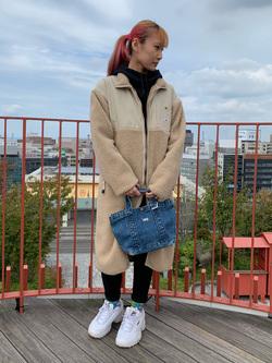 アミュプラザおおいた店のMoeriさんのLeeの【ユニセックス】【着回し力抜群】フリース コートを使ったコーディネート