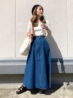 エスパル仙台店のhikaruさんのLeeのマキシスカートを使ったコーディネート