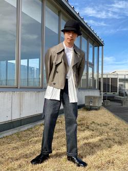 西宮ガーデンズ店のKazukiさんのLeeの【otonaMUSE掲載】【毎日履きたい】ボーイズストレートパンツを使ったコーディネート
