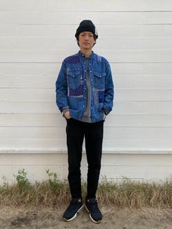 原宿店のYoshitakaさんののノーカラー リメイクシャツを使ったコーディネート