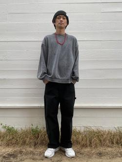 原宿店のYoshitakaさんのLeeの【ユニセックス】DUNGAREES ペインターパンツを使ったコーディネート
