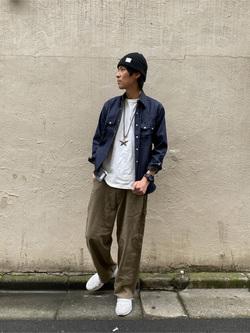 原宿店のYoshitakaさんのLeeのARCHIVES 50s RIDERS ヴィンテージシャツ(RAW 生デニム)を使ったコーディネート