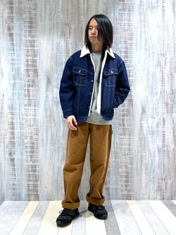Lee 名古屋店のFuuyaさんのLeeの【Winter sale】BOA STORM RIDER ジャケット【デニム】を使ったコーディネート