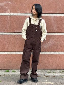 名古屋店のFuuyaさんのLeeの【男女兼用】デニムポケット パーカーを使ったコーディネート