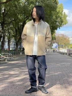 Lee 名古屋店のFuuyaさんのLeeの【決算SALE】【ユニセックス】フリースジップアップジャケットを使ったコーディネート