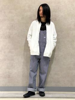 Lee 名古屋店のFuuyaさんのLeeのスナップボタン スウェットジャケット/カーディガンを使ったコーディネート