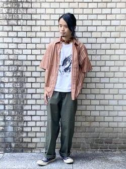 Lee 名古屋店のFuuyaさんのLeeのボックスフィット 半袖シャツを使ったコーディネート