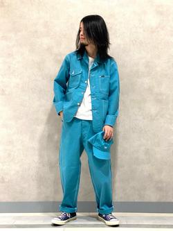 Lee 名古屋店のFuuyaさんのLeeの【セットアップ対応】ロコジャケット/カバーオールを使ったコーディネート