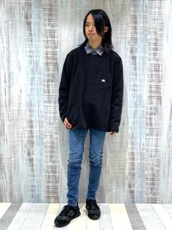 Lee 名古屋店のFuuyaさんのLeeの【トップス15%OFFクーポン対象】チェックオープンカラー 長袖を使ったコーディネート