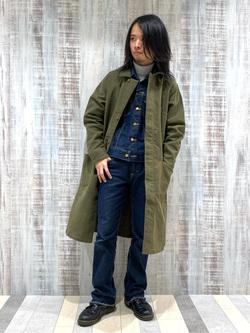 Lee 名古屋店のFuuyaさんのLeeの【直営店・WEB限定】サービスコートを使ったコーディネート
