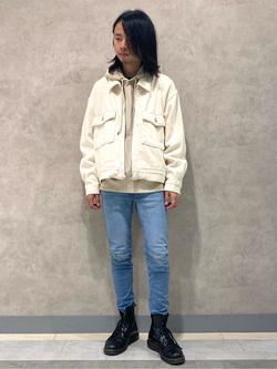 名古屋店のFuuyaさんのLeeの【セットアップ対応】チェトパ ジャケットを使ったコーディネート