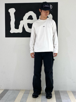 Lee 名古屋店のFuuyaさんのLeeの【ガレージセール】【男女兼用】バックプリント長袖Tシャツを使ったコーディネート