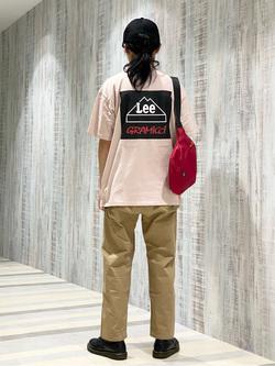 Lee 名古屋店のFuuyaさんのLeeの【Lee×GRAMICCI(グラミチ)】バックプリント 半袖Tシャツを使ったコーディネート
