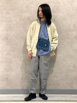 Lee 名古屋店のFuuyaさんのLeeの【ストレスフリーな穿き心地】ラクして決まる イージーワイドパンツを使ったコーディネート