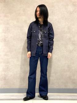 Lee 名古屋店のFuuyaさんのLeeのARCHIVES 50s RIDERS ヴィンテージシャツ(RAW 生デニム)を使ったコーディネート