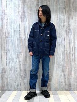 Lee 名古屋店のFuuyaさんのLeeの【Winter sale】AMERICAN RIDERS 101Z ストレートジーンズを使ったコーディネート