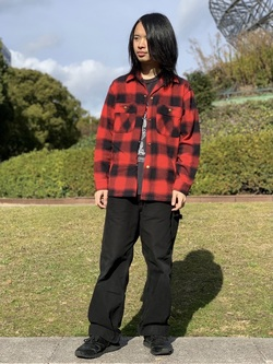 Lee 名古屋店のFuuyaさんのLeeの【Winter sale】【さらっと羽織れる】シャツジャケットを使ったコーディネート