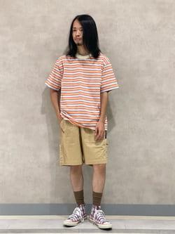 Lee 名古屋店のFuuyaさんのLeeの【SALE】イージーフィット ショーツを使ったコーディネート