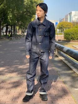 Lee 名古屋店のFuuyaさんのLeeの【Archives】WWII 101 COWBOY PANTSを使ったコーディネート