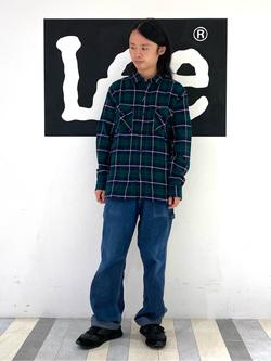 Lee 名古屋店のFuuyaさんのLeeの【Pre sale】チェックワークシャツ 長袖を使ったコーディネート