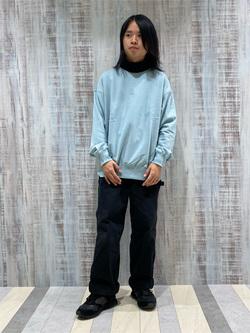 Lee 名古屋店のFuuyaさんのLeeの【トップス15%OFFクーポン対象】【ユニセックス】ミニロゴ刺繍 クルーネックスウェットを使ったコーディネート