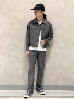 Lee 名古屋店のFuuyaさんののWRANCHER/ランチャー(レディース)ドレスパンツを使ったコーディネート