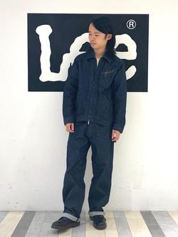 Lee 名古屋店のFuuyaさんのLeeの【narifuri×Lee】91B 高耐久ストレッチワークジャケットを使ったコーディネート