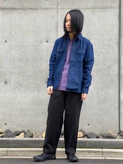 Lee 名古屋店のFuuyaさんのLeeの【Winter sale】【オールシーズン使える】ラクして決まる イージーワイドパンツを使ったコーディネート