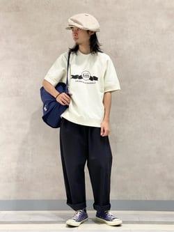 Lee 名古屋店のFuuyaさんのLeeの【SALE】半袖スウェットを使ったコーディネート