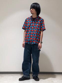 Lee 名古屋店のFuuyaさんのLeeの終了【シークレットセーール!!】オープンカラーシャツ 半袖(プリント柄)を使ったコーディネート