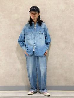 Lee 名古屋店のFuuyaさんのLeeのSUPERSIZED デニムシャツを使ったコーディネート