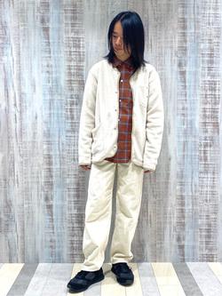 Lee 名古屋店のFuuyaさんのLeeのチェックオープンカラー 長袖を使ったコーディネート