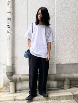 Lee 名古屋店のFuuyaさんのLeeのバックプリント 半袖Tシャツを使ったコーディネート