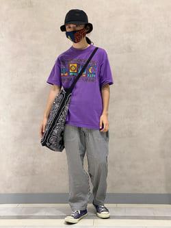 Lee 名古屋店のFuuyaさんのLeeの【SALE】【ストレスフリーな穿き心地】ラクして決まる イージーワイドパンツを使ったコーディネート
