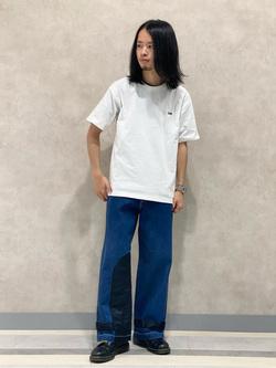 Lee 名古屋店のFuuyaさんのLeeの【Pipes】ワイドバギー パンツを使ったコーディネート