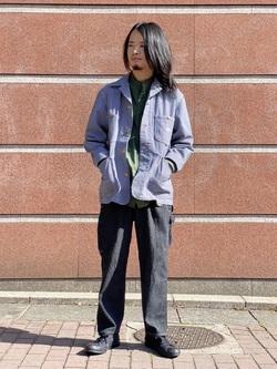 Lee 名古屋店のFuuyaさんのLeeのバンドカラーシャツ/長袖を使ったコーディネート